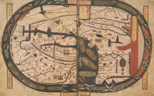 מפת ביאטוס - העולם הוצרי בימי הביניים
