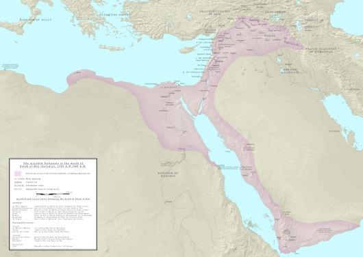 האימפריה האיובית בשנת מותו של צלאח א-דין, שיא כוחה