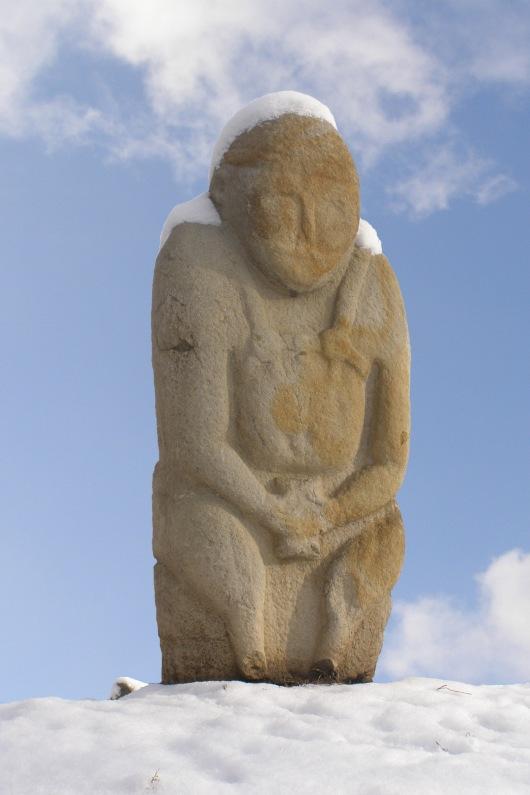פסל פולחני בערבות דרום רוסיה המאה ה- 11