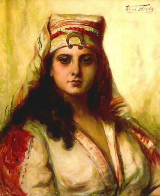 ׳יפהפיה מזרחית׳ - המערב מדמיין הנאות אסורות לאון הרבו - צייר בלגי (1850 - 1907)