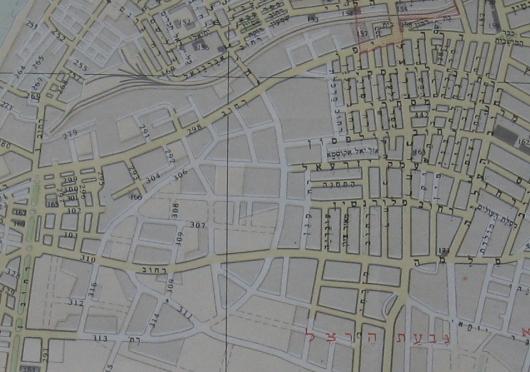 מפת תל אביב 1949