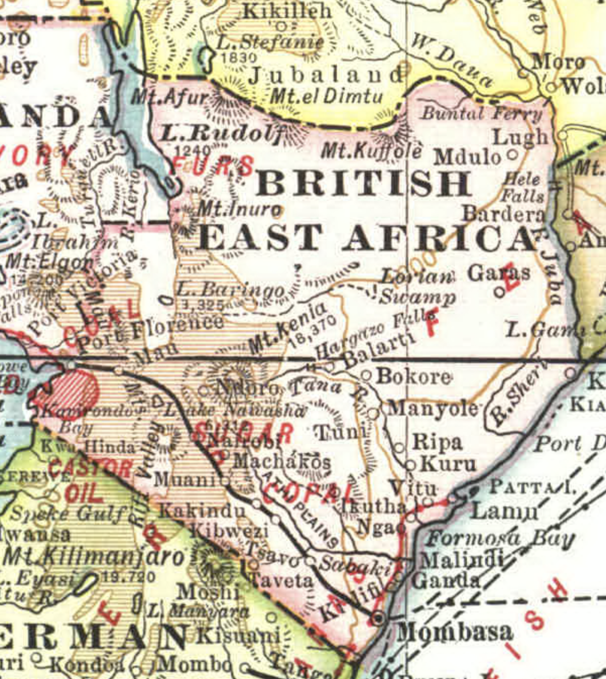 מפת מזרח אפריקה