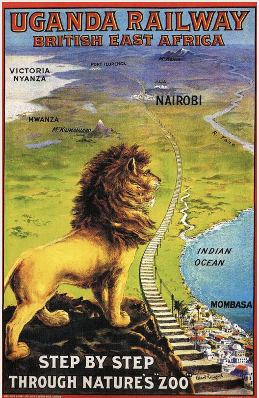 פרסומת 1908 לרכבת אוגנדה